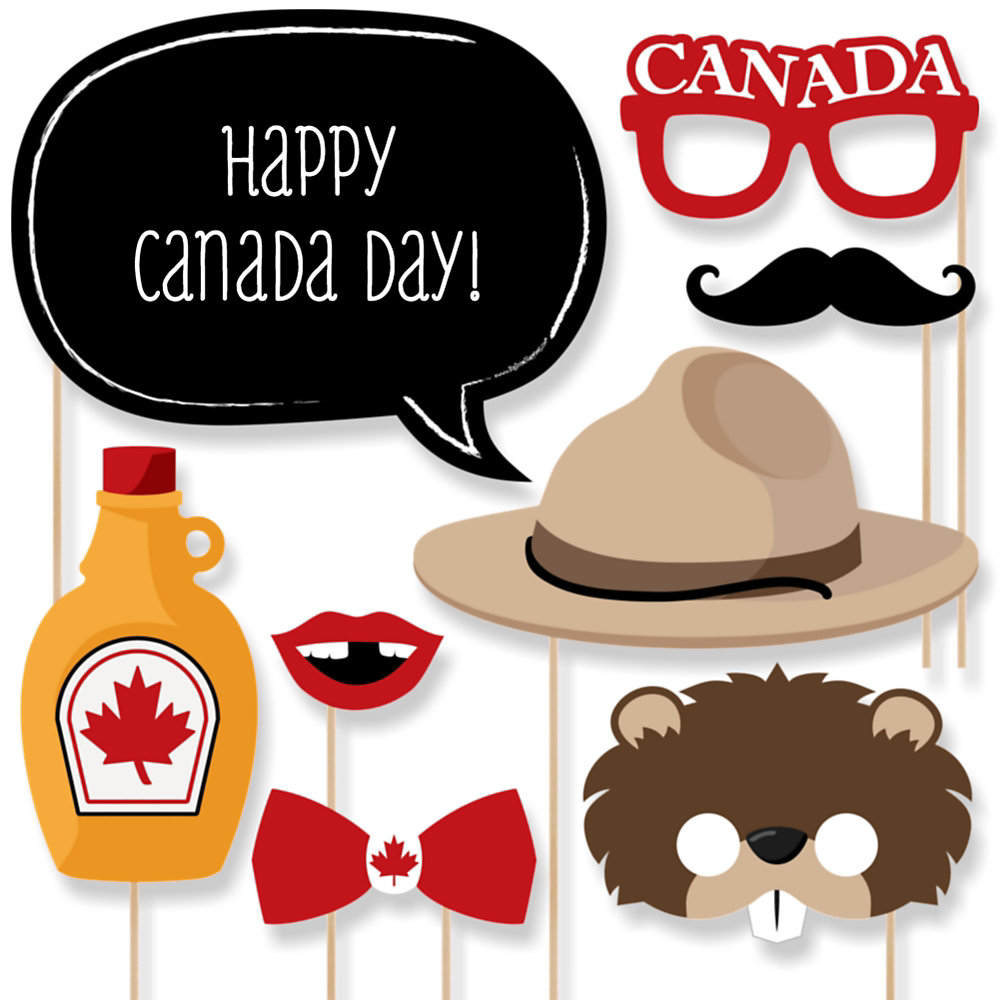 Famous Canada Day - 20 Piece Photo Booth Props Kit | BigDotOfHappiness.com JL94