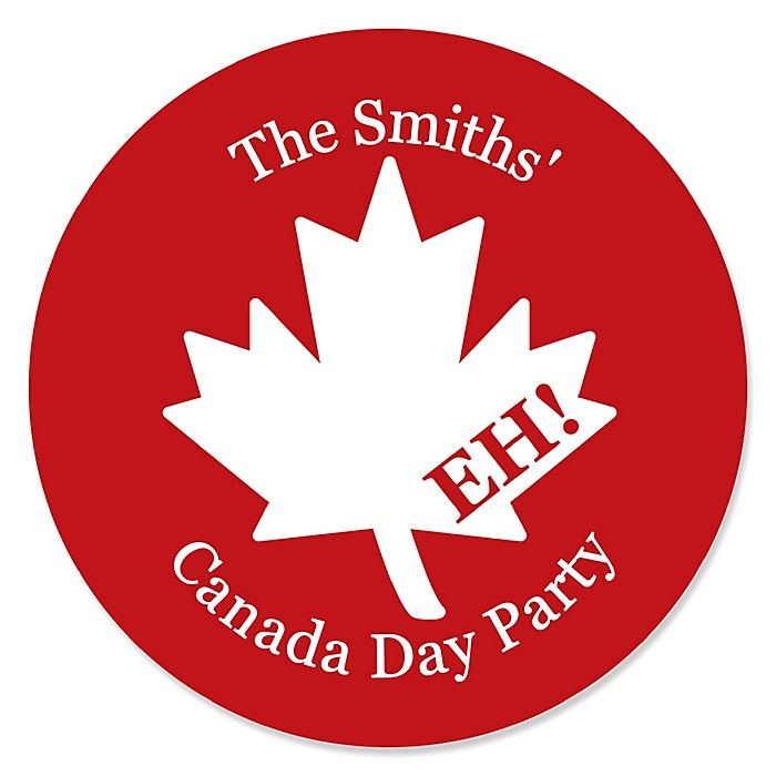 Canada Day - Personalized Canadian Party Sticker Labels - 24 ct