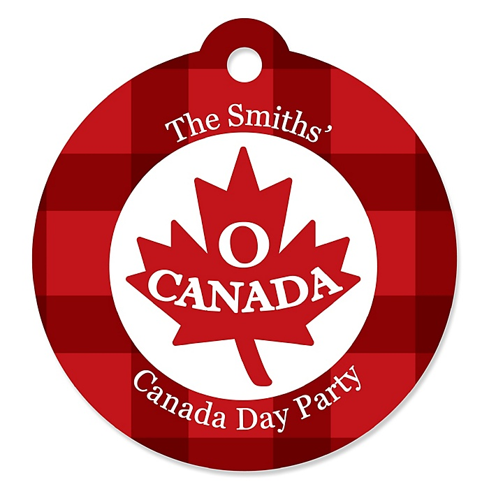 Canada Day - Personalized Canadian Party Favor Gift Tags - 20 ct
