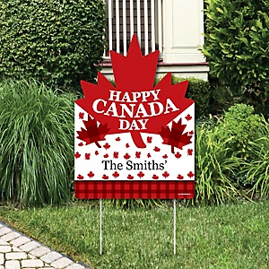 Canada Day - Party Decorations - Canadian Party Personalized Welcome Yard Sign