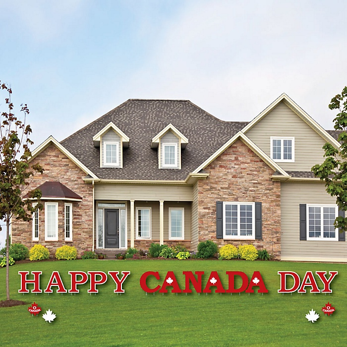 Canada Day - Yard Sign Outdoor Lawn Decorations - Canadian Party Yard Signs - Happy Canada Day