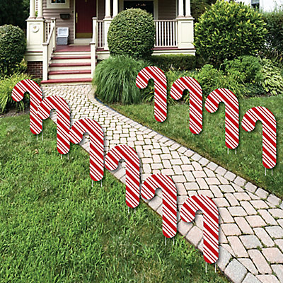 candy cane lawn decorations outdoor holiday and christmas yard decorations 10 piece bigdotofhappinesscom
