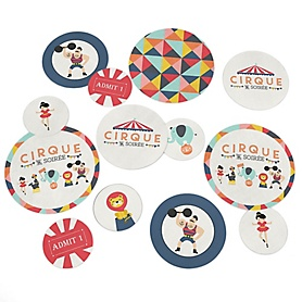 Carnival - Cirque du Soiree - Baby Shower or Birthday Party  Table Confetti - 27 ct
