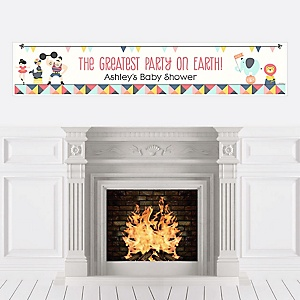 Circus / Carnival - Cirque du Bebe - Personalized Baby Shower Banners