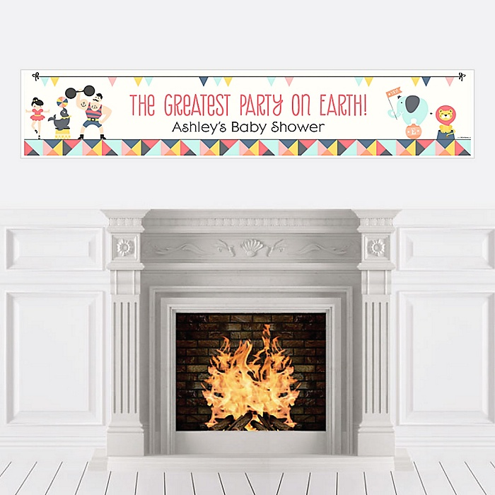 Carnival - Cirque du Bebe - Personalized Baby Shower Banners