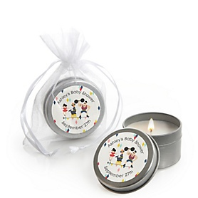 Carnival - Cirque du Bebe - Personalized Baby Shower Candle Tin Favors - Set of 12