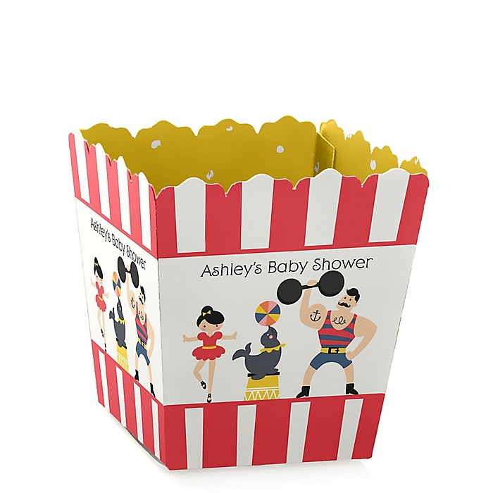Carnival - Cirque du Bebe - Party Mini Favor Boxes - Personalized Baby Shower Treat Candy Boxes - Set of 12