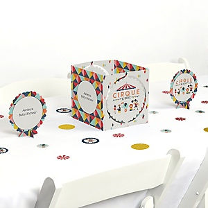 Circus / Carnival - Cirque du Bebe - Baby Shower Centerpiece & Table Decoration Kit
