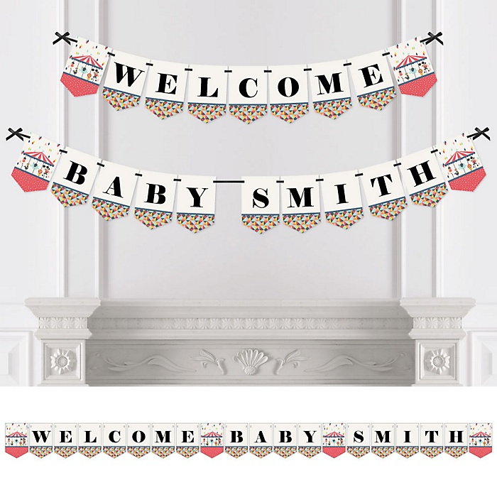 Carnival - Cirque du Bebe - Personalized Baby Shower Bunting Banner & Decorations