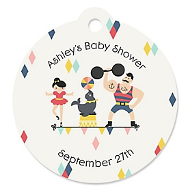 Carnival - Cirque du Bebe - Personalized Baby Shower Tags - 20 ct