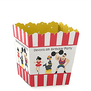 Carnival - Cirque du Soirée - Party Mini Favor Boxes - Personalized Birthday Party Treat Candy Boxes - Set of 12