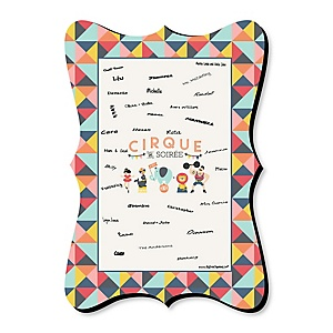 Carnival - Cirque du Soirée - Unique Alternative Guest Book - Baby Shower or Birthday Party Signature Mat