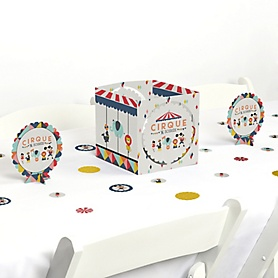 Carnival - Cirque du Soirée - Baby Shower or Birthday Party Centerpiece and Table Decoration Kit