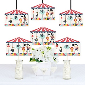 Carnival - Cirque du Soirée - Carousel Decorations DIY Baby Shower or Birthday Party Essentials - Set of 20