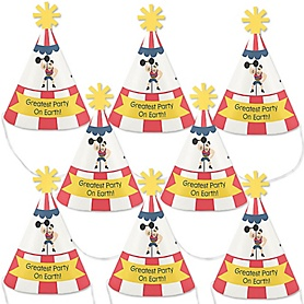 Carnival - Cirque du Soirée - Mini Cone Baby Shower or Birthday Party Hats - Small Little Party Hats - Set of 8