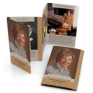 Celebration Of Life - Accordion Fold Memorial Photo Card