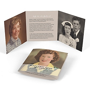 Celebration Of Life - Tri-fold Memorial Photo Card