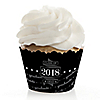 Graduation Cheers - 2018 Graduation Decorations - Party Cupcake Wrappers - Set of 12
