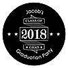 Graduation Cheers - Personalized 2018 Graduation Sticker Labels - 24 ct