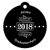 Graduation Cheers - Personalized 2018 Graduation Party Die-Cut Tags - 20 ct