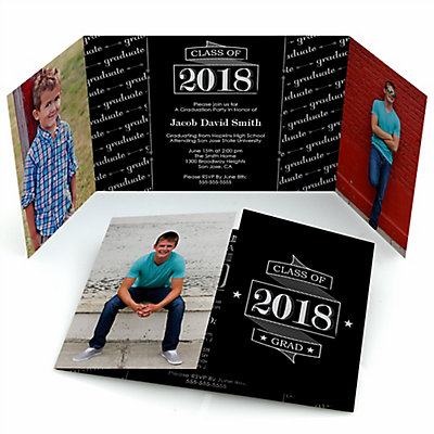 graduation cheers personalized photo 2018 graduation invitations