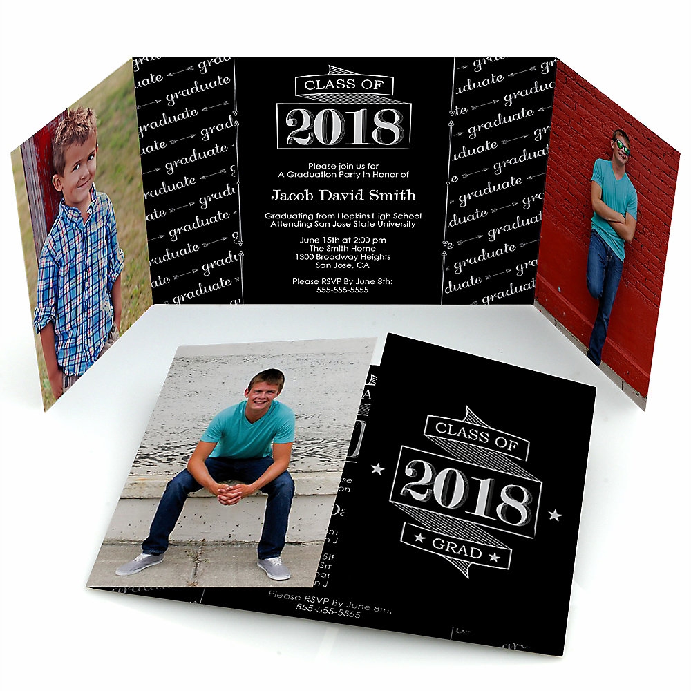 Graduation invitations bigdotofhappiness graduation cheers personalized photo 2018 graduation invitations set of 12 filmwisefo