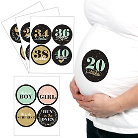 Delicate Floral - 16 Piece Weekly Pregnancy Stickers Set
