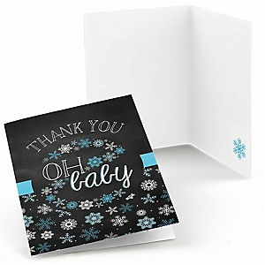 Oh Baby - Winter - Baby Shower Thank You Cards - 8 ct