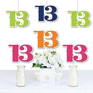 13th Birthday - Cheerful Happy Birthday - Decorations DIY Colorful Thirteenth Birthday Party Essentials - Set of 20