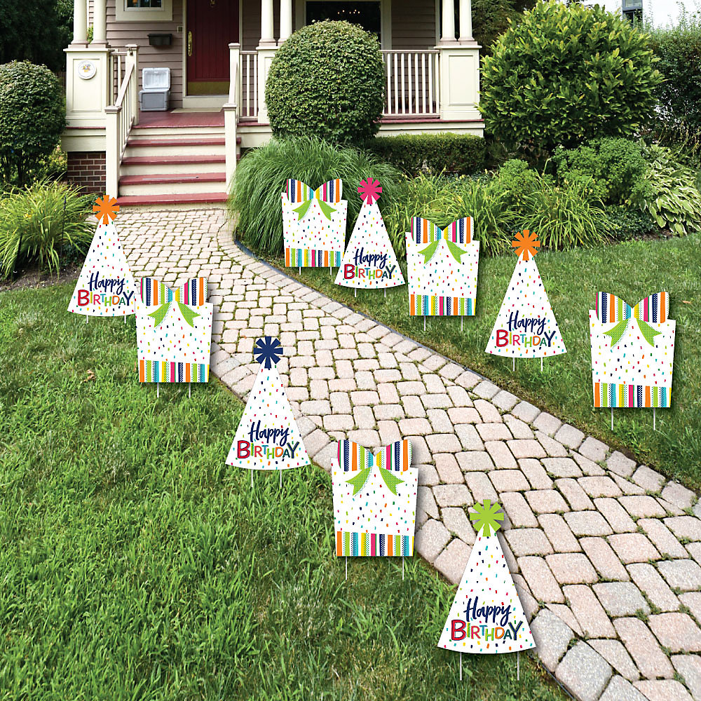 Cheerful Happy Birthday Lawn Decorations