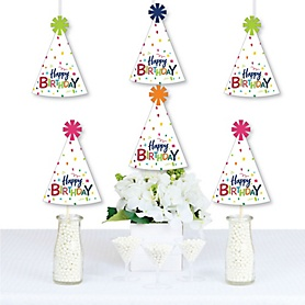 Cheerful Happy Birthday - Decorations DIY Colorful Birthday Party Essentials - Set of 20