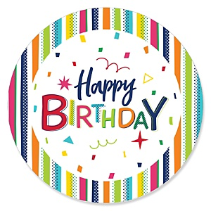 Cheerful Happy Birthday - Colorful Birthday Party Theme