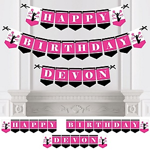 We've Got Spirit - Cheerleading - Personalized Birthday Party Bunting Banner & Decorations