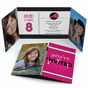 We've Got Spirit - Cheerleading - Personalized  Cheerleader Party Photo Invitations - Set of 12
