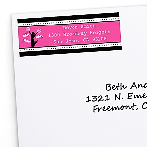 We've Got Spirit - Cheerleading - Personalized Birthday Party or Cheerleader Party Return Address Labels - 30 ct