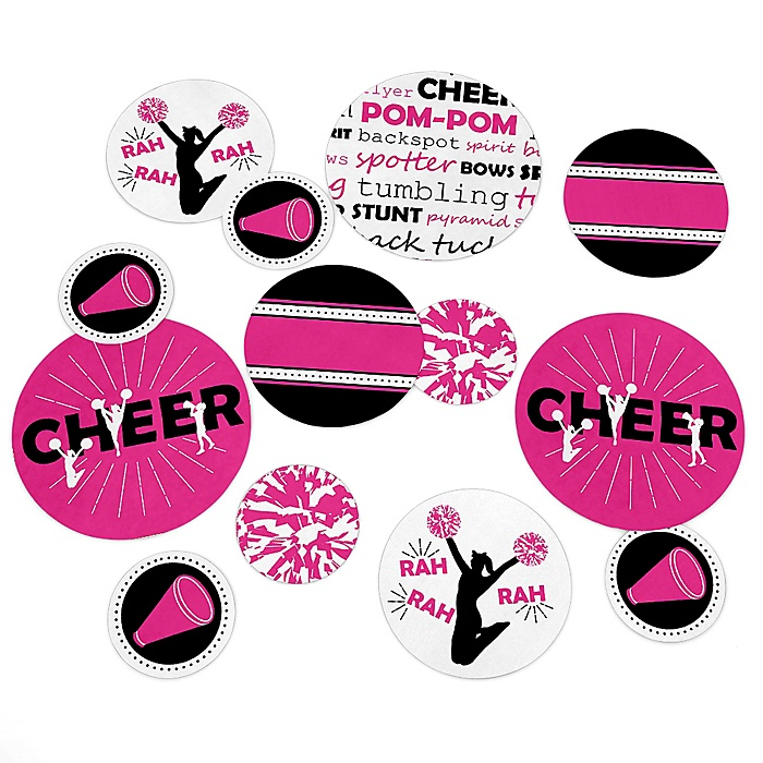 We've Got Spirit - Cheerleading - Birthday Party or Cheerleader Party Giant Circle Confetti - Party Decorations - Large Confetti 27 Count