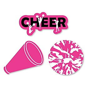 We've Got Spirit - Cheerleading - DIY Shaped Birthday Party or Cheerleader Party Cut-Outs - 24 ct