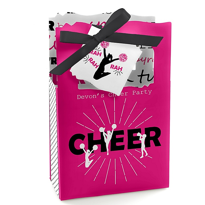 We've Got Spirit - Cheerleading - Personalized Birthday Party or Cheerleader Party Favor Boxes - Set of 12
