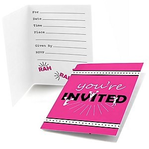 We've Got Spirit - Cheerleading - Fill In Birthday Party or Cheerleader Party Invitations - 8 ct
