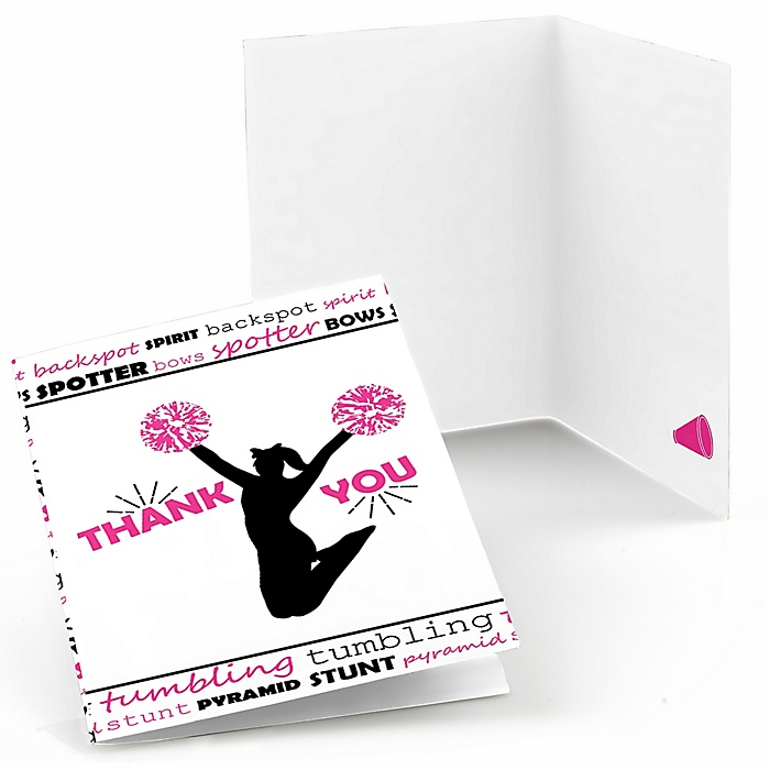 We've Got Spirit - Cheerleading - Birthday Party or Cheerleader Party Thank You Cards - 8 ct