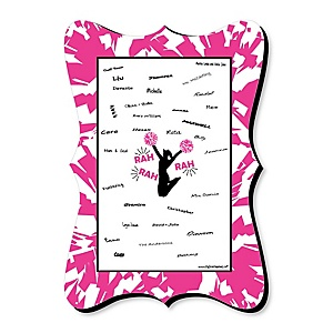 We've Got Spirit - Cheerleading - Unique Alternative Guest Book - Birthday Party or Cheerleader Party Signature Mat