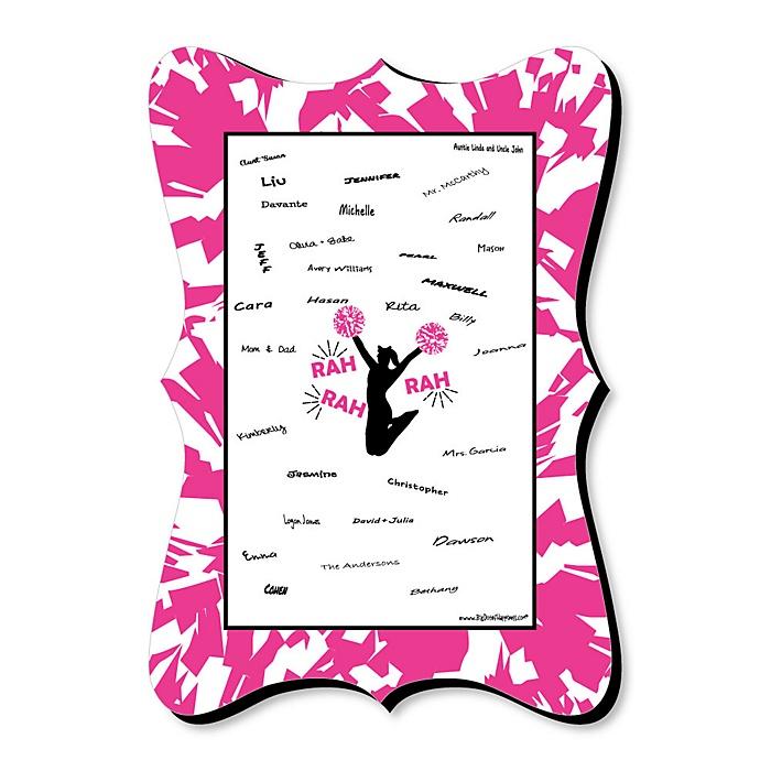 We've Got Spirit - Cheerleading - Unique Alternative Guest Book - Birthday Party or Cheerleader Party Signature Mat