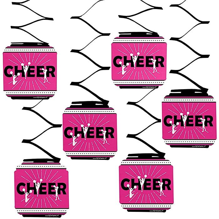 We've Got Spirit - Cheerleading - Birthday Party or Cheerleader Party Hanging Decorations - 6 ct