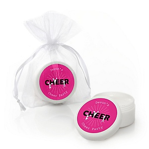 We've Got Spirit - Cheerleading - Personalized Birthday Party or Cheerleader Party Lip Balm Favors - Set of 12