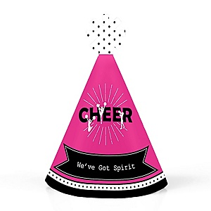 We've Got Spirit - Cheerleading - Personalized Mini Cone Birthday Party or Cheerleader Party Hats - Small Little Party Hats - Set of 10