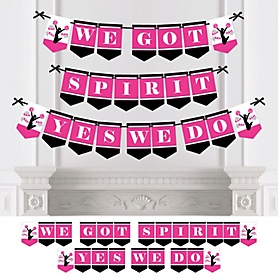 We've Got Spirit - Cheerleading - Personalized Birthday Party or Cheerleader Party Bunting Banner & Decorations