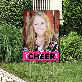 We Got Spirit - Cheerleading - Photo Yard Sign - Birthday Party or Cheerleader Party Decorations