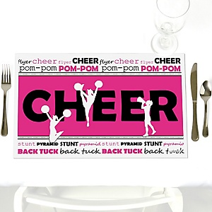 We've Got Spirit - Cheerleading - Party Table Decorations - Birthday Party or Cheerleader Party Placemats - Set of 12