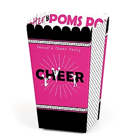 We've Got Spirit - Cheerleading - Personalized Birthday Party or Cheerleader Party Popcorn Favor Treat Boxes - Set of 12