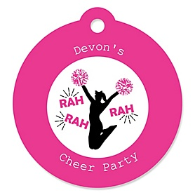 We've Got Spirit - Cheerleading - Personalized Birthday Party or Cheerleader Party Favor Gift Tags - 20 ct